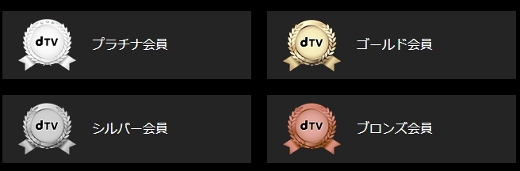 dTVの会員ランク